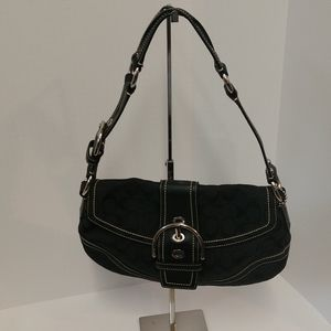 Authentic Black Coach Signature Shoulder Bag